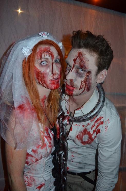 Zombie Hochzeitspaar